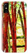 Red Bamboo IPhone Case