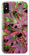 Red Bark Maple Leaves  IPhone Case
