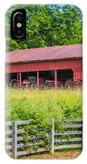 Red Barn Along The Fence IPhone Case