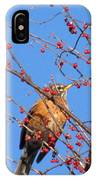 Red Berry Robin IPhone Case