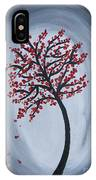 Red Black Tree Painting IPhone Case