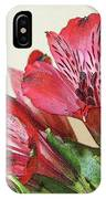 Red Blooms Poster Art IPhone Case