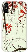 Red Blossom Tree On Handmade Paper IPhone Case