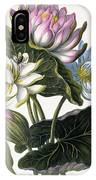 Red, Blue, And White Lotus Flowers IPhone Case