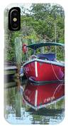 Red Boat Docked Florida IPhone Case