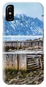 Red Boathouse In Norris Point, Newfoundland IPhone Case