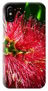 Red Bottle Brush IPhone Case