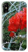 Red Bougainvillea Thorns IPhone Case