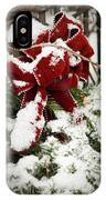 Red Bow On Pine Bough IPhone Case
