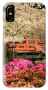 Red Bridge And Blossoms IPhone Case