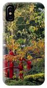 Red Bridge & Japanese Lantern, Autumn IPhone Case