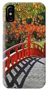 Red Bridge With Shadows IPhone Case