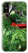 Red Canoe In The Adk IPhone Case