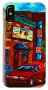 Red Car Blue Sky IPhone Case