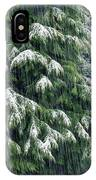 Red Cedar And Snow IPhone Case