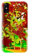 Red Chinese Maple Leaf's IPhone Case