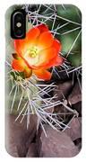 Red Claretcup Cactus IPhone Case