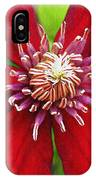 Red Clematis IPhone Case