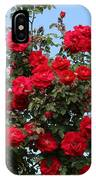 Red Climbing Roses IPhone Case
