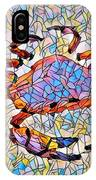 Red Crab Stained Glass IPhone Case