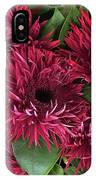Red Daisies Bouquet IPhone Case