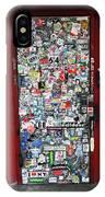 Red Doorway With Stickers IPhone Case