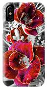 Red Double Lily IPhone Case
