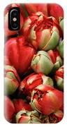 Red Elegant Blooming Tulips  IPhone Case