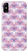 Red Fabric Pattern IPhone Case