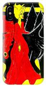 Red Faerie And Black Wolf With Yellow Moon IPhone Case