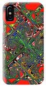 Red Five Wave Abstract IPhone Case
