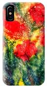 Red Floral Abstract IPhone Case