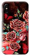 Red Floral Heels IPhone Case