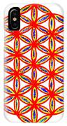 Red Flower Of Life IPhone Case