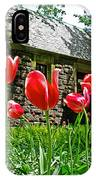 Red Flowers In Central Park IPhone Case