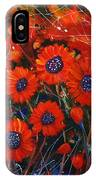 Red Flowers In The Night IPhone Case