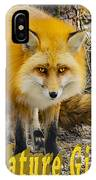 Red Fox Nature Girl IPhone Case