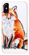 Red Foxie IPhone Case