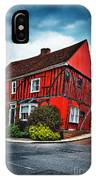 Red Frame House In Lavenham, England. IPhone Case