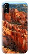 Red Glow On The Hoodoos Of Bryce Canyon IPhone Case