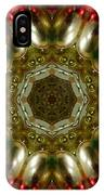 Red Gold Kaleidoscope 1 IPhone Case