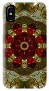Red Gold Kaleidoscope 2 IPhone Case