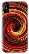Have A Closer Look. Red-golden Spiral Art IPhone X Case