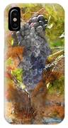 Red Grapes On The Vine During The Fall Season IPhone Case