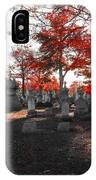 Red Fall Graveyard IPhone Case
