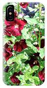 Red Hollyhocks IPhone Case