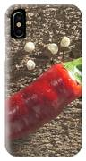 Red Hot Peppers On Wooden  Cutting Board IPhone X Case