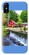 Red House By The Falls IPhone Case