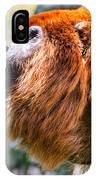 Red Howler Monkey Alpha Male IPhone Case