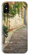 Red Ivy And Steps In Assisi Italy IPhone Case